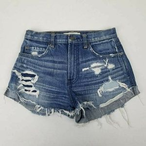 Abercrombie & Fitch Jean Cut Off Shorts Distressed